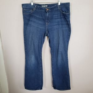 Levis 590 Boot Cut Stretch Denim Blue Jeans Sz 18